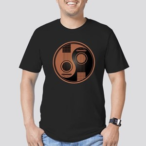 Brown and Black Yin Yang Acoustic Guitars T-Shirt