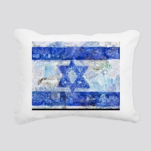 Flag of Israel Rectangular Canvas Pillow