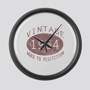 1964 Vintage Birthday (red) Large Wall Clock