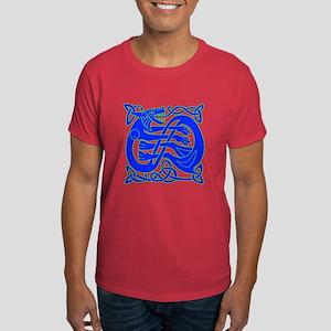 blue celtic dragon Dark T-Shirt