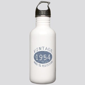 1954 Vintage Birthday (blue) Stainless Water Bottl