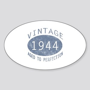 1944 Vintage Birthday (blue) Sticker (Oval)