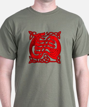 red celtic dragon T-Shirt