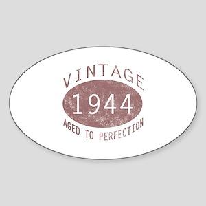 1944 Vintage Birthday (red) Sticker (Oval)