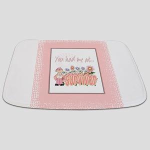 Blanket Cancer Survivor pink copy Bathmat