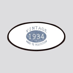 1934 Vintage Birthday (blue) Patches