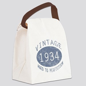 1934 Vintage Birthday (blue) Canvas Lunch Bag