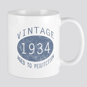 1934 Vintage Birthday (blue) Mug