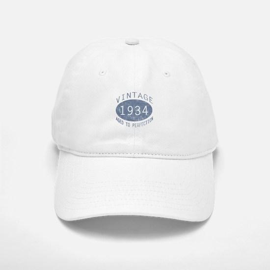 1934 Vintage Birthday (blue) Baseball Baseball Cap