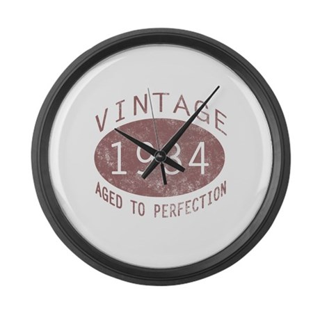 1934 Vintage Birthday (red) Large Wall Clock