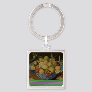 Still Life with Lemons, Oranges an Square Keychain