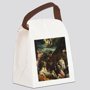 The Annunciation to the Shepherds Canvas Lunch Bag