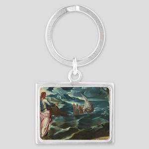 Christ at the Sea of Galilee Landscape Keychain