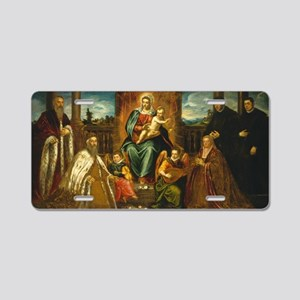 Classic Art - Painting of M Aluminum License Plate