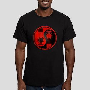 Red and Black Yin Yang Acoustic Guitars T-Shirt
