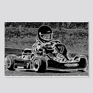 Kid Kart in Black and White Postcards (Package of