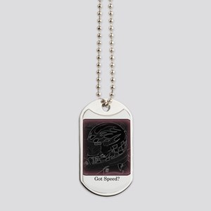 Got Speed? (Black and White) Dog Tags