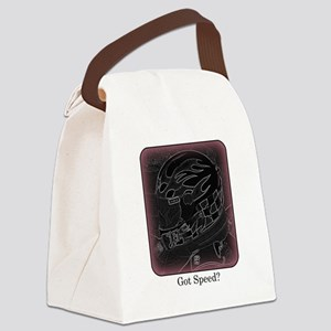 Got Speed? (Black and White) Canvas Lunch Bag
