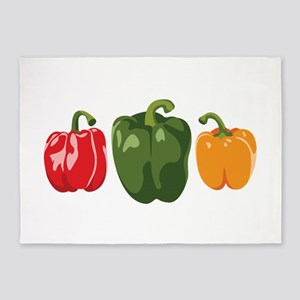 Bell Pepper Vegetables 5'x7'Area Rug