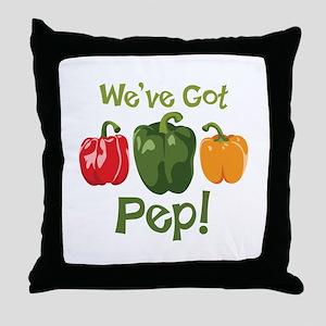 Weve Got Pep! Throw Pillow