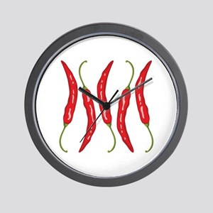Chili Peppers Wall Clock