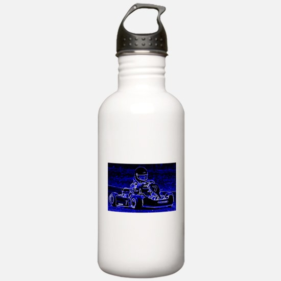 Kart Racer in Blue Water Bottle