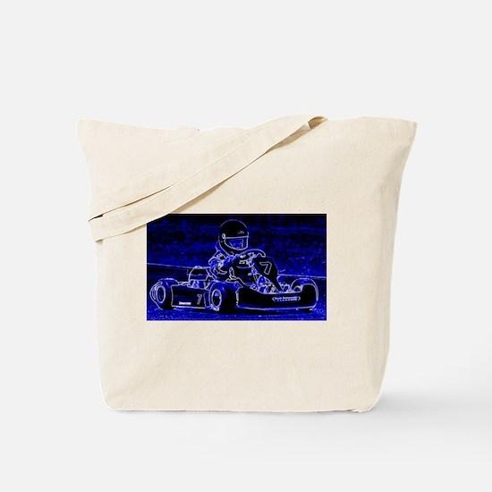 Kart Racer in Blue Tote Bag