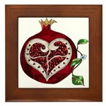 Pomegranate Heart Framed Tile