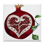 Pomegranate Heart Tile Coaster