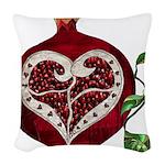 Pomegranate Heart Woven Throw Pillow