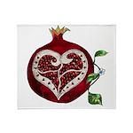 Pomegranate Heart Throw Blanket