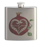 Pomegranate Heart Flask
