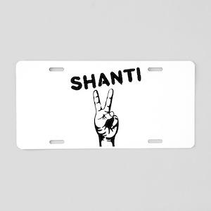 Shanti Aluminum License Plate