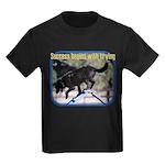 Success Dog Art Kids Dark T-Shirt