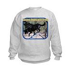 Success Dog Art Kids Sweatshirt