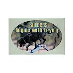 Success Dog Art Rectangle Magnet (100 pack)