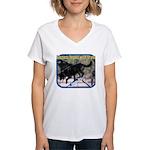 Success Dog Art Women's V-Neck T-Shirt