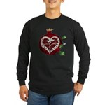Pomegranate Heart Long Sleeve T-Shirt