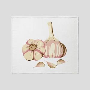 Garlic Cloves Throw Blanket