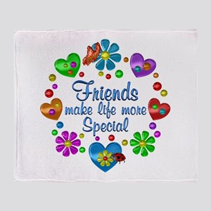 Friends Make Life More Special Throw Blanket