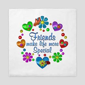 Friends Make Life More Special Queen Duvet