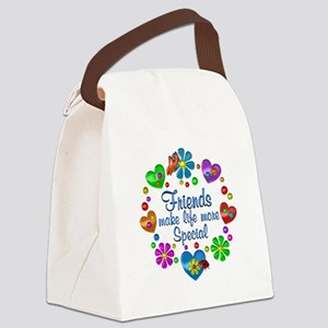 Friends Make Life More Special Canvas Lunch Bag