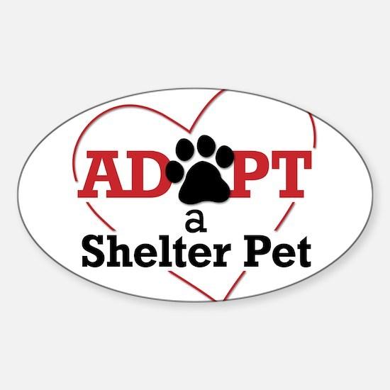 Adopt a Shelter Pet Decal