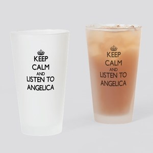 Keep Calm and listen to Angelica Drinking Glass