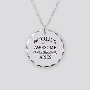 World's Most Awesome Aries Necklace Circle Charm