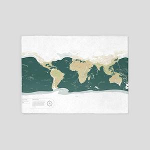 Earth: 75000 years ago 5'x7'Area Rug