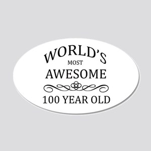 World's Most Awesome 100 year Old 20x12 Oval Wall