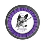Basenji Best In Specialty Show Wall Clock