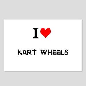 I Love Kart Wheels Postcards (Package of 8)