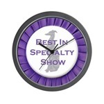 Whippet Best In Specialty Show Wall Clock